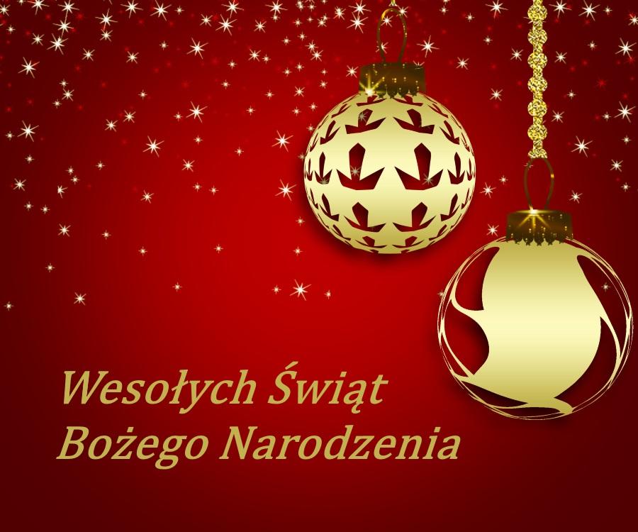 Weihnachtskarte auf Polnisch